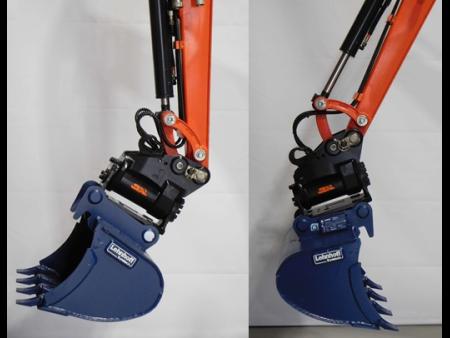 KX019 s powertiltem a lopatou